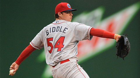 Jesse Biddle was the Phillies' first-round pick in the 2010 Draft.
